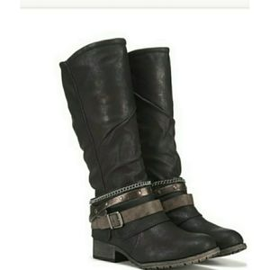 Jellypop Tall Zipper Boots